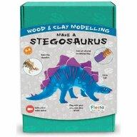 Fiesta Crafts - Set de constructie Stegosaurus Cu argila din Lemn