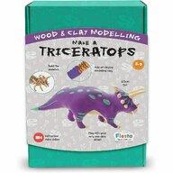 Fiesta Crafts - Set de constructie Triceratops Cu argila din Lemn
