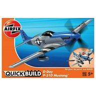 Airfix - Kit constructie Quick Build Avion D-Day P-51D Mustang