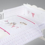 Klups - Set lenjerie brodata 5 piese Night Birds - pink