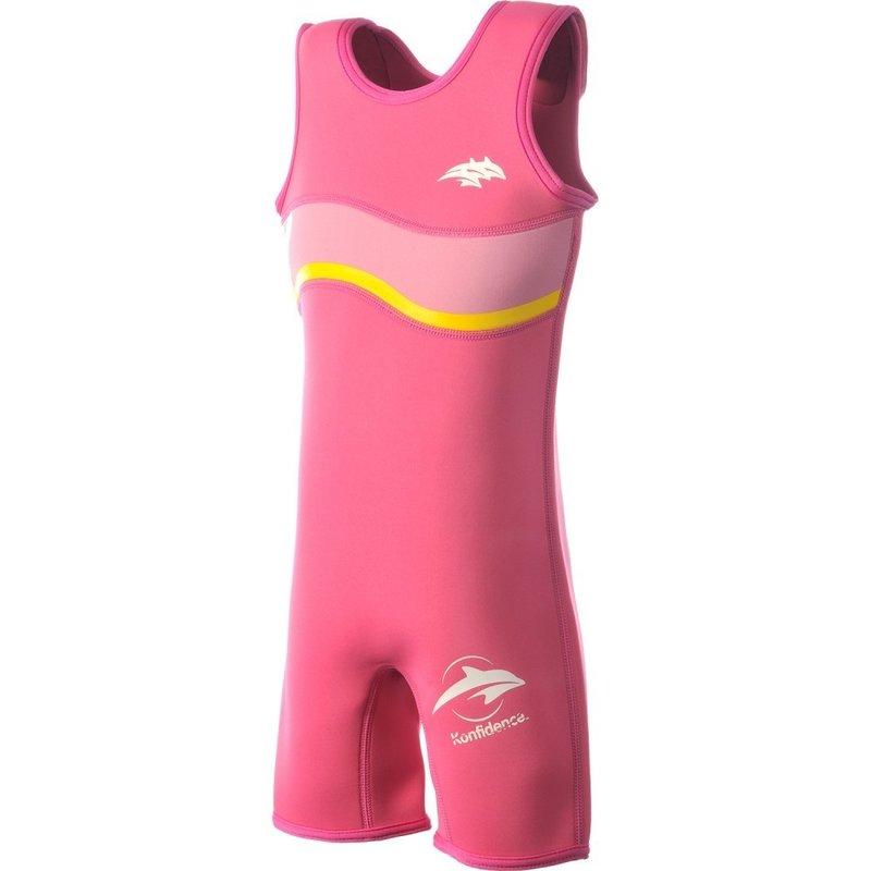 Konfidence - Costum inot copii din neopren Warma Wetsuit Pink 2-3 ani din categoria Plaja apa si nisip de la Konfidence