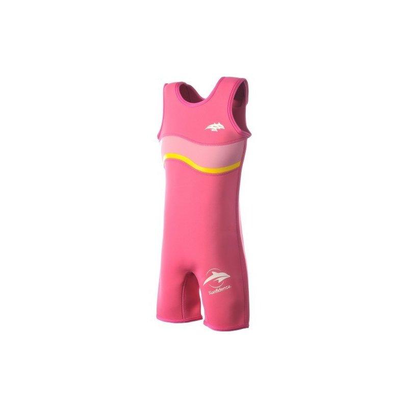 Konfidence - Costum inot copii din neopren Warma Wetsuit Pink 6-7 ani din categoria Plaja apa si nisip de la Konfidence