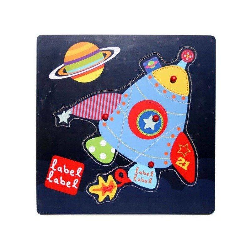 Label-Label Puzzle din lemn Racheta din categoria Puzzle copii de la Label-Label Olanda