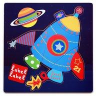 Label-Label - Puzzle din lemn Racheta Puzzle Copii, pcs  4