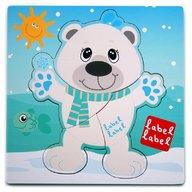 Label-Label Puzzle din lemn Urs Polar