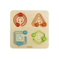Masterkidz - Labirint 4 forme geometrice simple, din lemn, +18 luni,
