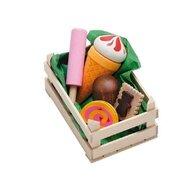 Erzi - Ladita mica cu dulciuri asortate din lemn,