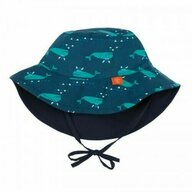 Lassig - Palarie soare copii cu doua fete 0-6 luni UPF50+, Blue Whale