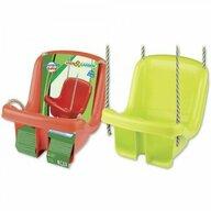 Androni Giocattoli - Leagan din plastic copii pentru exterior Androni cu spatar, Verde/Rosu