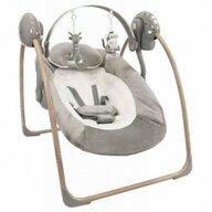 Bo Jungle - Leagan portabil pentru bebelusi, din lemn, cu arcada jucarii, Gri