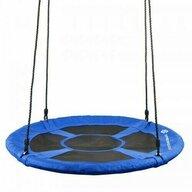Springos - Leagan de gradina Stork XXL Tip cuib, 120 cm , Pentru 2 persoane, Greutate maxima 180 kg, Albastru