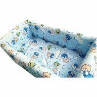 Deseda - Lenjeria de patut bebelusi cu aparatori Maxi  Ursuleti cu albine pe albastu - 120*60 cm