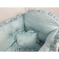 Deseda - Lenjerie de pat bebe 120x60 cm din Jackard Verde menta LUX by