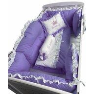 Deseda - Lenjerie de pat bebelusi 120x60 cm 8 piese  Regal Violet