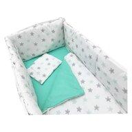 Deseda - Lenjerie de pat bebelusi 140x70 cm cu aparatori laterale pufoase  Somn lin