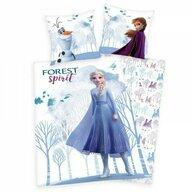 Herding - Lenjerie 2 piese Reversibila Disney Frozen 2 din Bumbac, 200x140 cm
