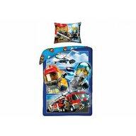 Lenjerie de pat LEGO® City, 200x140 cm, Albastru