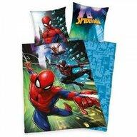 Herding - Lenjerie 2 piese Reversibila Spiderman din Bumbac, 200x140 cm