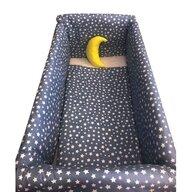 Deseda - Lenjerie de patut bebelusi 120x60 cm cu aparatori Maxi Cerul Noptii