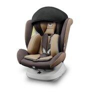 Lionelo - Scaun auto Bastiaan One Pozitie de somn, Protectie laterala, Rotire 360 grade, Top Tether, 0-36 Kg, cu Isofix, Bej/Maro