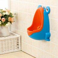 Little Mom - Pisoar baieti Happy Frog Blue/Orange
