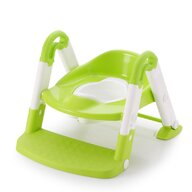 Little Mom - Reductor pentru toaleta cu scarita Stair Potty Green