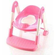 Little Mom - Reductor pentru toaleta cu scarita Stair Potty Pink