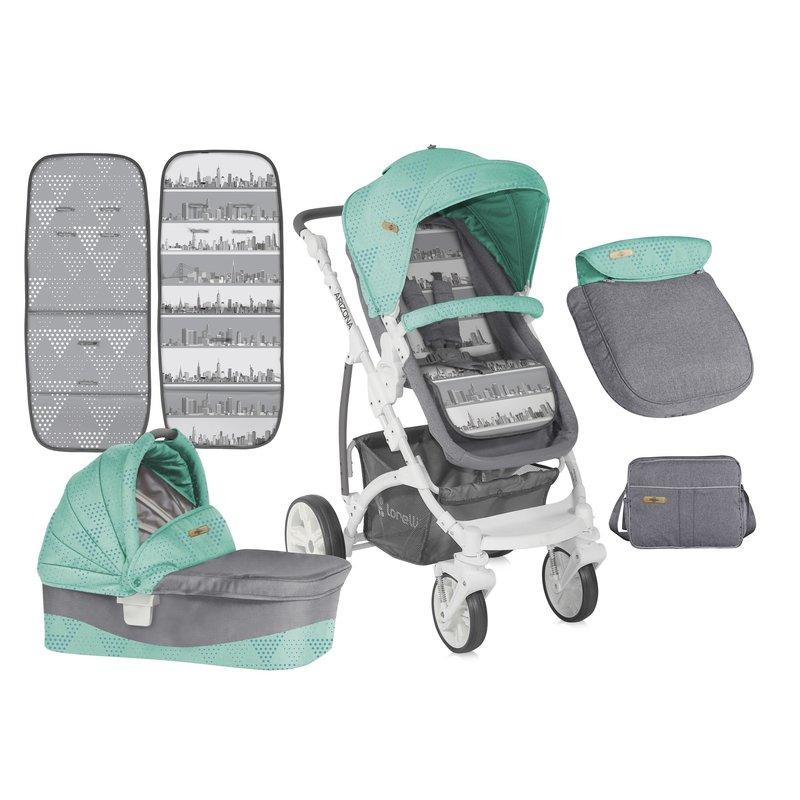 Lorelli Carucior sistem ARIZONA Green & Gray din categoria Carucioare copii de la Lorelli