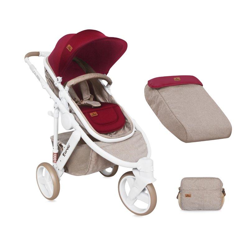 Lorelli Carucior sistem Calibra 3 Beige & Red din categoria Carucioare copii de la Lorelli