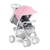 Lorelli - Copertina pentru carucior cu protectie solara , Pink & White Triangles