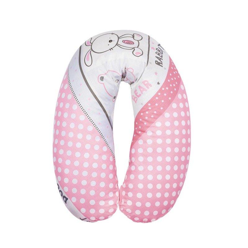 Lorelli Perna Pentru Alaptat Bumbac Ranforce Friends Pink din categoria Perne pentru gravide si alaptat de la Lorelli