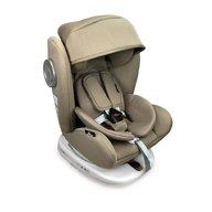 Lorelli - Scaun auto Lusso Spatar reglabil, Pozitie de somn, Protectie laterala, Rotire 360 grade, 0-36 Kg, cu Isofix, Bej
