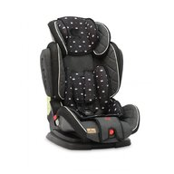 Lorelli - Scaun auto Magic Crowns Spatar reglabil, Pozitie de somn, Protectie laterala, 9-36 Kg, Negru