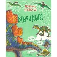 Girasol - Carte cu activitati Ma distrez si ma joc cu dinozauri