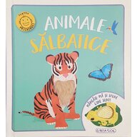 Girasol - Carte cu activitati Animale salbatice Mangaie-ma si spune cine sunt