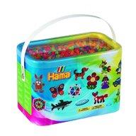Hama - Set margele de calcat Mix 6 culori neon Model 2 Midi