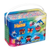 Hama - Set margele de calcat Mix 6 culori pastel 1 Model 1 Midi