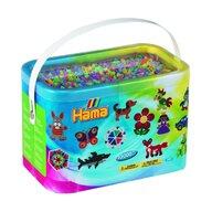 Hama - Set margele de calcat Mix 6 culori pastel 2 Model 2 Midi