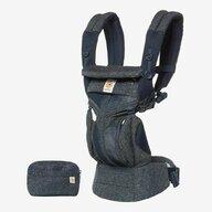 Ergobaby - Marsupiu ergonomic Omni 360 Cool Air Mesh Tweed, 4 pozitii, Albastru