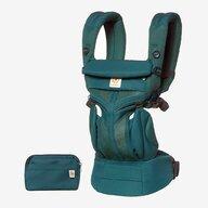 Ergobaby - Marsupiu ergonomic Omni 360 Cool Air Mesh Evergreen, 4 pozitii, Verde