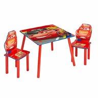 Worlds Apart - Set Masa cu 2 scaune Disney Cars din MDF, 63x63 cm