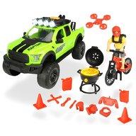 Dickie Toys - Masina Playlife Bike Trail Set cu figurina si accesorii