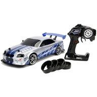 Jada Toys - Masina Fast and Furious Nissan Skyline GTR Drift cu anvelope si telecomanda