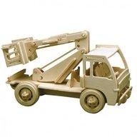 Pebaro - Masini de lucru puzzle 3D din lemn