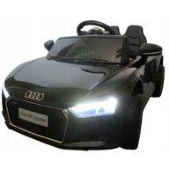 R-Sport - Masinuta electrica Audi R8 Cu telecomanda, Cu roti EVA, Cu scaun piele, Negru