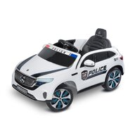 Toyz - Masinuta electrica Mercedes-Benz EQC Police 12V Cu telecomanda, Alb