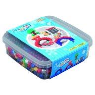 Hama - Set margele de calcat Masinute In cutie, 600 buc Maxi