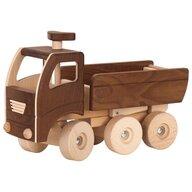 Goki Nature - Vehicul de lemn Basculanta Micul santierist