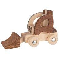 Goki Nature - Vehicul de lemn Excavator Material joc de rol Micul santierist
