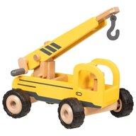 Goki - Vehicul de lemn Macara mobila Micul santierist